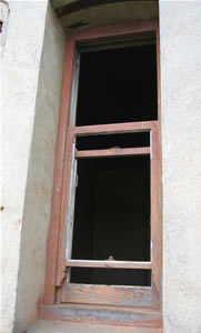 old sash window