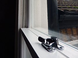 Weather seals in a timber sash window stop rattles, noise and cold.