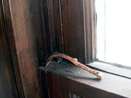 replace snapped cords in a timber sash.